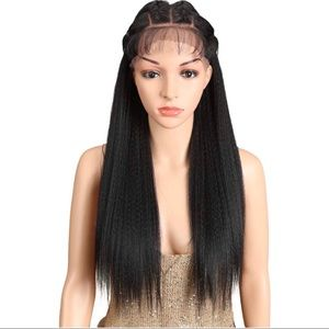 """24"""" Straight Yaki Free Part 13x4 Lace Frontal Wig"""